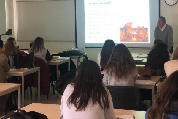 Charla al alumnado del grado en Ciencia y Tecnología de los Alimentos, Universidad de Murcia